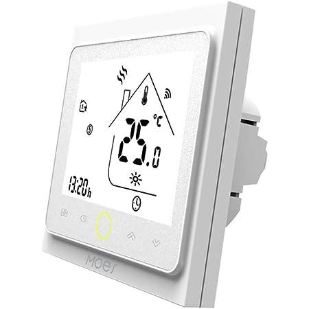 MOES Termostato inteligente WiFi Controlador de temperatura Smart Life APP Control remoto para calefacción eléctrica Funciona con Alexa Google Home 16A