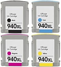 Generic Compatible Ink Cartridge Replacement for HP 940XL (Black,Cyan,Magenta,Yellow,4-Pack)