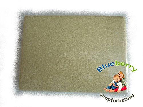 BlueberryShop kwekerij baby Terry Towelling hoeslaken voor babybedje, Moses mand en wieg, 90 cm lengte x 40 cm breedte, geel