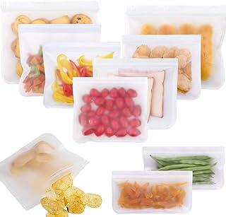 10 reusable food storage bags,Reusable fruit and vegetable sandwich bag,Preserving Food Container,PEVA Food Bag,Food Stora...