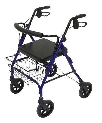 Days Bariatric Heavy Duty Rollator, Metall Mobil Walker und Ruhesitz für Senioren, Behinderte, und eingeschränkte Mobilität Patienten, Wandern Stabilisator für Beitrag Chirurgie, vier Rad-Rollator