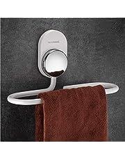 Wangel Toallero de mano autoadhesivo, soporte para toallas de baño, adhesivos sin rastro, aluminio, nunca se oxida, baño y cocina