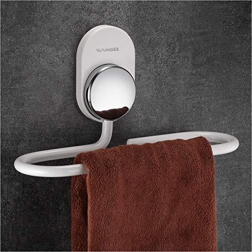 Wangel Handtuchring ohne Bohren, Handtuchhalter, Transparent Selbstklebender Kleber, Aluminium, Weiß