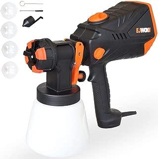 Paint Sprayer 1000ml/min - 600 Watt High Power HVLP Home Sprayers Electric Spray Gun with 3 Spray Patterns/4 Nozzle Sizes/Adjustable Valve Knob/Flow Control Ideal for Indoor & Outdoor Precise Paint