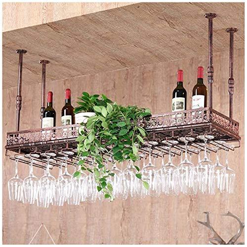 Elegante Botellero, Colgando Vino Titular del vino del metal de la vendimia del estante con la titular de vidrio, montado en la pared que cuelga titular de la botella de vino, ajustable Industria del