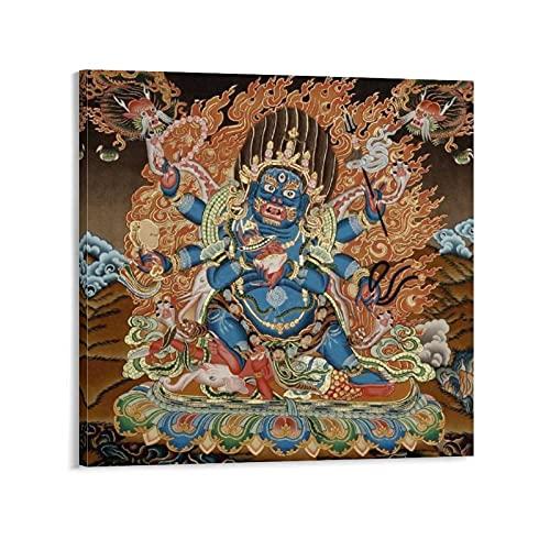 マハーカーラキャンバスアートポスター装飾画リビングルームウォールアートプリント画像28×28インチ(70×70cm)