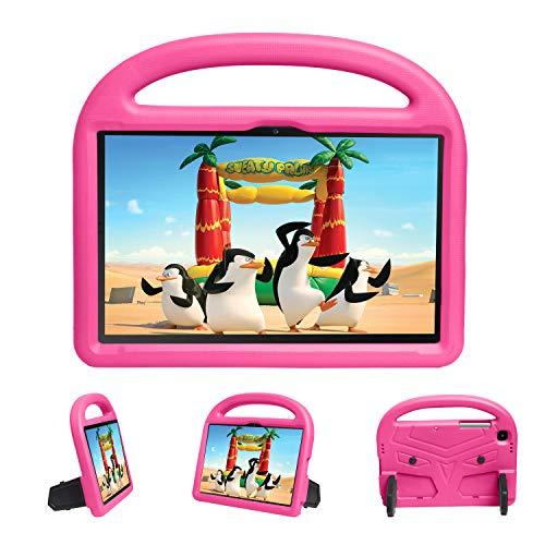 XunyLyee Funda infantil para Samsung Galaxy Tab A7 2020, a prueba de golpes, con mango ligero y soporte para Galaxy Tab A7 2020 SM-T500 T505 T507 (10,4 pulgadas), color rosa