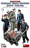 ミニアート 1/35 ドイツ人駅員4体入 1930-40年代 プラモデル MA38010