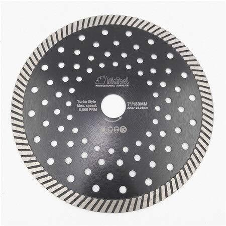 CLJ-LJ SHDIATOOL Diamond Hot Press Diamond Turbo Hoja de sierra de material duro Cerámica Azulejo de granito Disco de corte con múltiples agujeros (color: 180 mm)