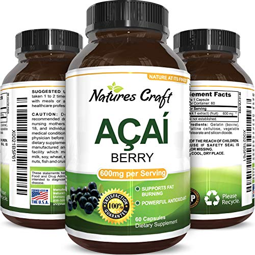 Pure Acai Berry Concentrate Capsules