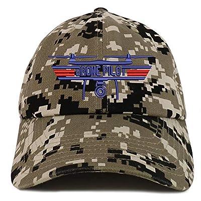 Trendy Apparel Shop Drone Top Gun Pilot Embroidered Soft Crown 100% Brushed Cotton Cap