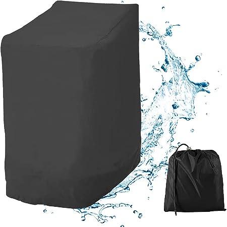 Housse de Chaise de Jardin,Housse de Protection pour Meuble Robuste Tissu Oxford 210D,Housse de Chaise Empilable Imperméable pour Extérieur,114x85x65CM (Style A)