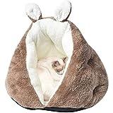 BLEVET Cama de Perros Suave y Acogedor Lavable Gato Sofá Animales Estera Profundo Sueño para el Invierno MZ127 (50 * 50 * 35CM, Coffee)