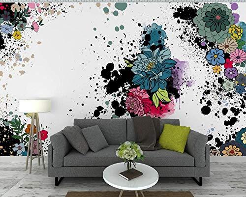 Wallpaper 3D Hand Painted Ink Art Flowers Modern Custom Wall Mural Photo Wallpaper Murals