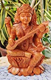 wooden maa saraswati idol hindu daram godees for knowledge and & music wooden hand made maa saraswati murti idol This wooden Statue height is 6 inch. Gift This saraswati statue to your loved ones. Saraswati maa is known as the Godess of knowledge and...