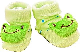 Joyfeel Buy, 1 par de calcetines de bebé de algodón peinado, color verde