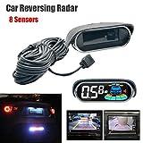 Sensori di parcheggio 8, dual-core, sistema radar a vista anteriore e posteriore, sensori display LCD, elettronica, ausilio al parcheggio, parcheggio con rilevatore radar di retromarcia
