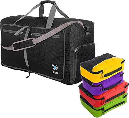 Bundle of 80L Duffle Bags & 4pcs Set Packing Cubes...