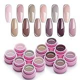 UR SUGAR 7,5ml UV Gel Nagellack Set Nude Farben Serie für Nagelgel Maniküre und 1Pc UV Gellack Nail Brush Kit
