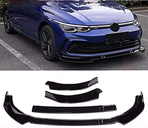 BABYCOW Frontstoßstange Lippe Bodykit Spoilerflügel | Für VW Golf MK8 R-Line 2020 2021 ABS Frontschürze Lip Kinnspoiler Diffusor Schutz Abdeckung Trim Schutz Splitter Styling Zubehör (Carbon Fiber)