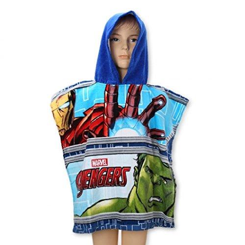 Marvels Avengers Poncho de plage à capuche pour enfants.