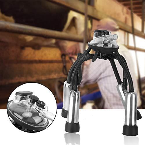 Jadpes Grupo de ordeño, Conjunto de Taza de Leche de racimo de ordeño de Vaca, 240cc Equipo de ordeñadora de Vaca Accesorios de Taza de ordeño para máquina de ordeño de Bomba de vacío para Granjero
