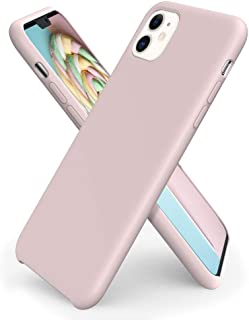 ORNARTO Liquid Silicone Case for iPhone 11, Slim Liquid Silicone Soft Gel Rubber Case Cover for Apple iPhone 11(2019) 6.1 inch-Pink Sand