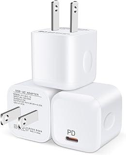 PD充電器 20W Mini USB-C 急速充電器 Type C 急速充電器 USB-C 電源アダプター 【PSE認証済/PD&QC3.0対応/超小型/3個セット】 Hootek タイプC 急速充電器 USBコンセント ACアダプター iPh...