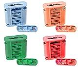 Medikamentendosierer Tablettenbox 4er Set Pillendose 7 Tage