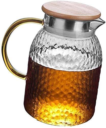 GAOYINMEI Tetera Tetera de Cristal de la Taza del jarro Helado Tetera fácil de Limpiar Ideal for Botellas de café Helado con el Jugo Leche y café (Size : 11.5×15cm)