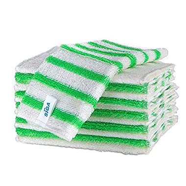 MR. SIGA Bamboo Fiber Cleaning Cloths, Pack of 12, Size:23 x 18cm