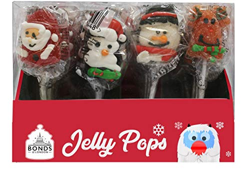 Christmas Jelly Pops 23g x 24 - Xmas Stocking Fillers, Party Bags Gifts etc.