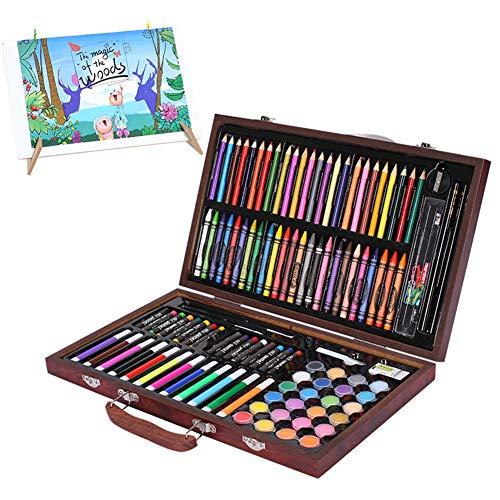 Lvbeis Disegno Matite Colorate Professionali Set Pittura Valigetta di Legno Pastello Art Pastelli A Cera En Pastelli A Olio119 Acquarellabili Colori