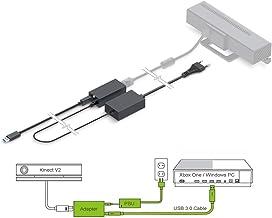 PeakLead [Edición Mejorada] Adaptador Kinect, Adapter USB 3.0 Que Conecta el Sensor Kinect V2 con Xbox One S, Xbox One X y Windows 8, 8.1, 10 PC, Fuente de alimentación del EU incluida