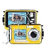 Lincom Camara Acuatica Camara Sumergibles 2.7K Full HD 48.0 MP Camara Acuatica Sumergible...