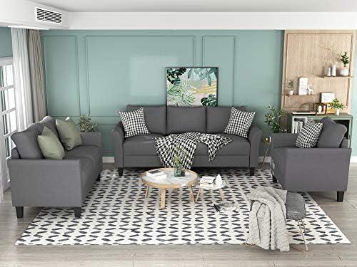 3 Piece Sectional Sofa Set for Living Room Furniture,Morden...