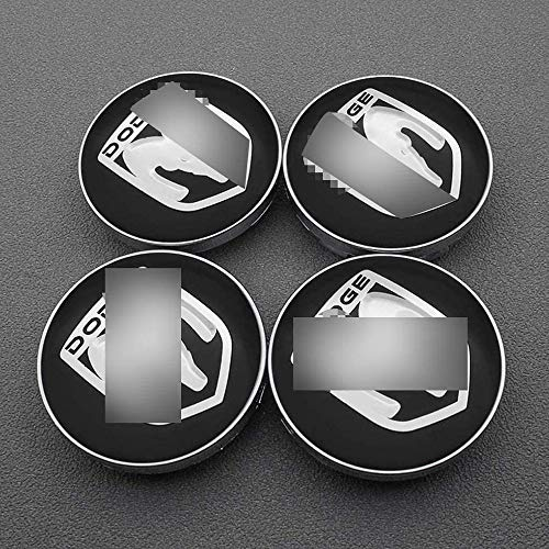 MWJK 4 Piezas 3D Aluminio Tapas centrales Rueda Accesorios para Dodge Journey Ram 1500 2500 Caliber Nitro Charger Durango