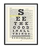 See the Good in All Things, All Things Work for Good, Romans 8:28 Eye Chart Christian Unfr...