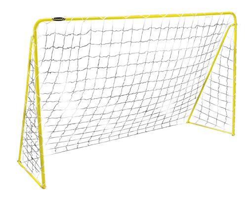Kickmaster M06046-02 - Portería de fútbol (Acero, 6 pies (1,83 m)), Color Amarillo