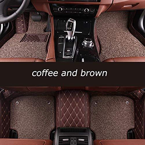 WXHHH Custom Car Fußmatten Für Skoda Alle Modelle Hervorragende Fabia Schnelle Kodiaq Yeti KAROQ KAMIQ Octavia Autozubehör Styling, Bodenmatte Styling
