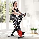 Merax Klappbarer Magnetische Hometrainer Hallenrad Fitnessbike mit LCD-Konsole, 8 verstellbare...