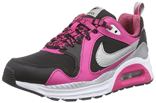 Nike Mädchen Air Max Trax (Gs) Low-Top, Schwarz (Black/Metallic Silver-white-vivid Pink), 36.5 EU