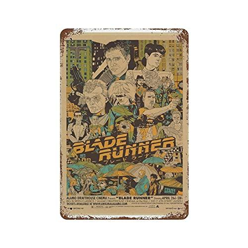 Blade Runner 2049 Cartel de película Metal Retro Cartel de Chapa Bar Tienda Cocina Divertida Decoración de Pared Carteles de Garaje 8X12 Pulgadas
