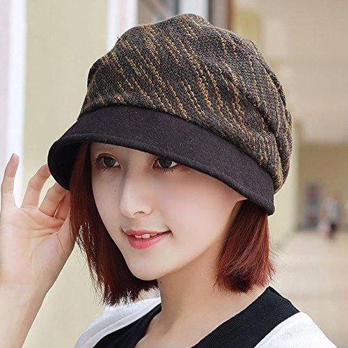 LIUXINDA-MZ Ms. hoed tij herfst Winter wastafel cap visser hoed schilder cap reparatie gezicht van Yuan Fashion Cap is een cap video dun