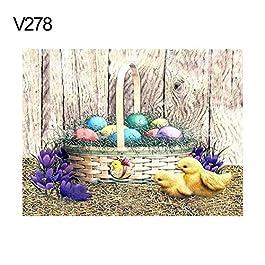 Bbl345dLlo DIY 5D Diamond Painting, 30x40cm Easter Rabbit Chick Egg Cross Stitch Craft Full Round Diamond Painting