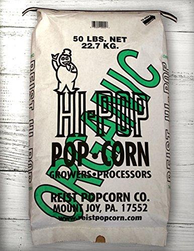 Best Deals! HI-POP Organic Yellow Butterfly Popcorn - Bulk 50lb Bag