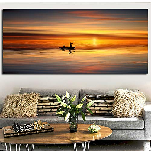 ganlanshu Sonnenuntergang Seestück Ölgemälde Natur Landschaft Wandbild dekorative Malerei dekorative Malerei Wohnzimmer Poster rahmenlose Malerei 30cmx60cm