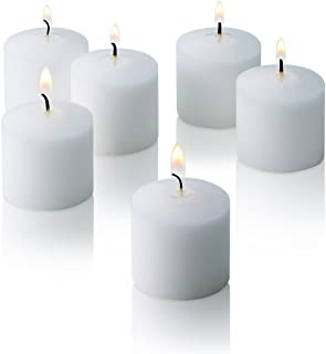 White Jasmine Scented Candles - Set of 12 Scented Votive Candles - 10 Hour Burn Time - Made in The USA
