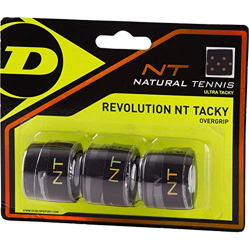 Dunlop Revolution NT Tacky Overgrip schwarz 3er, One Size