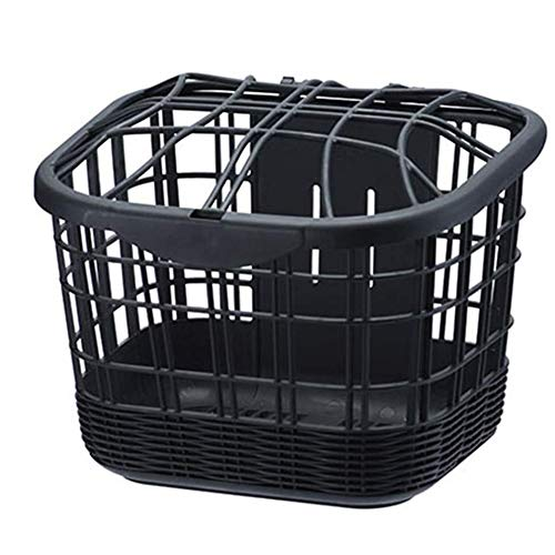Amazing Deal GFYWZZ Rust-Proof Bicycle Front Handlebar Basket,Quick Release Front Handlebar Bicycle ...